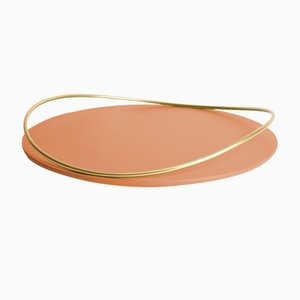 Touché E Tray in Terracotta by Martina Bartoli for Mason Editions