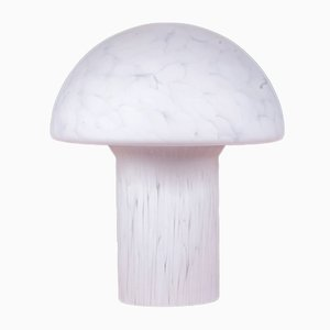 Frosted Glass Mushroom Table Lamp from Peill & Putzler, 1960s