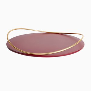 Touché E Tray in Bordeaux by Martina Bartoli for Mason Editions