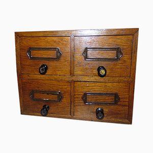 Vintage Art Deco Wooden Filing Cabinet