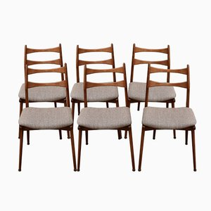 Cherry Dining Chairs from Habeo, 1960s, Set of 6