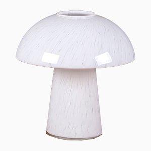 Lámpara de mesa hongo de vidrio de Peill & Putzler, años 60