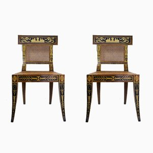 Mid-Century Egyptian Revival Klismos Chair, 1950s, Set of 2