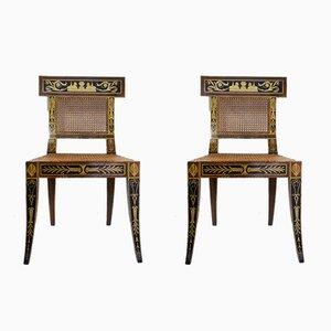 Mid-Century Egyptian Revival Klismos Stühle, 1950er, 2er Set