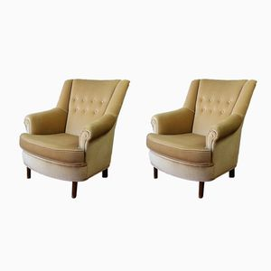 Vintage French Lounge Chairs, Set of 2