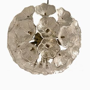 Murano Glass Flower Ceiling Lamp by Paolo Venini for Veart, 1970s
