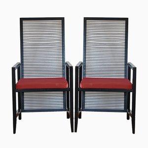 Astoria Dining Chairs by Franco Bizzozzero for Pierantonio Bonacina, 1980s, Set of 2