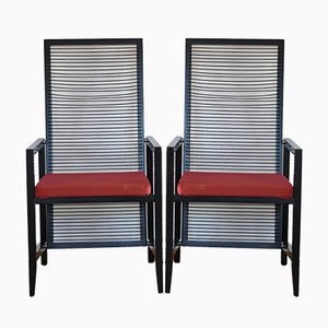 Astoria Esszimmerstühle von Franco Bizzozzero für Pierantonio Bonacina, 1980er, 2er Set