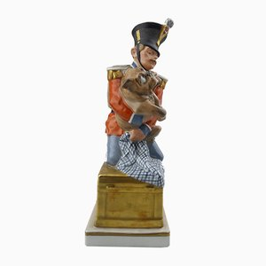 Porcelain Soldier & Dog Figure from Royal Copenhagen, 1900s