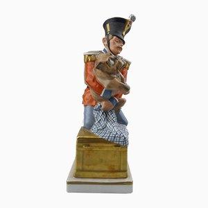 Porcelain Soldier & Dog Figure from Royal Copenhagen, 1900s