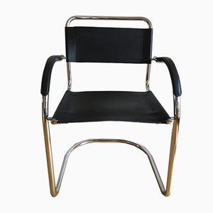 Silla Bauhaus de cromo, años 70
