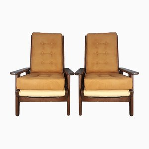 FS-108 Armchairs by Pierre Guariche for Freespan, 1950s, Set of 2