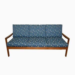 Sofá de tres plazas Senator danés de teca de Ole Wanscher para Cado, años 60