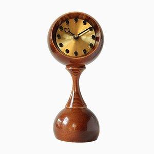 Horloge de Table Globe Vintage de Ruhla, 1970s