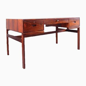 Mid-Century Danish Rio Model Jakaranda Rosewood Desk by Arne Wahl Iversen for Vinde, 1960s
