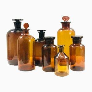 Set di bottigliette da farmacia vintage