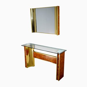 Console & Mirror Set, 1970s