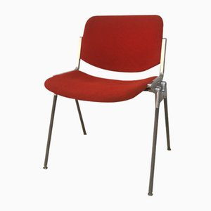 Mid-Century Red Side Chair by Arne Norell & Giancarlo Piretti for Castelli