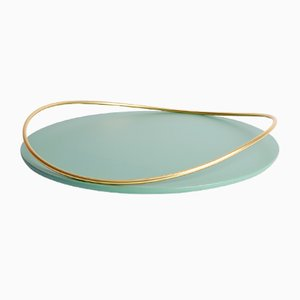 Touché E Tray in Sage by Martina Bartoli for Mason Editions