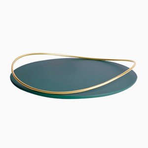 Touché E Tray in Petrol Blue by Martina Bartoli for Mason Editions
