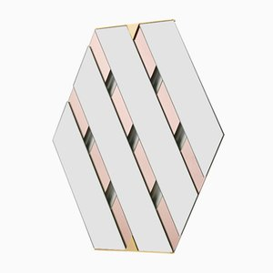 Clear & Rosé Tresse Mirror by Martina Bartoli for Mason Editions