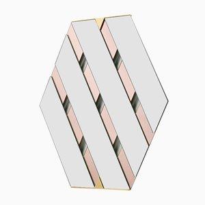 Miroir Tresse Transparent et Rose Pâle par Martina Bartoli pour Mason Editions