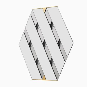 Specchio Tresse grigio fumo di Martina Bartoli per Mason Editions