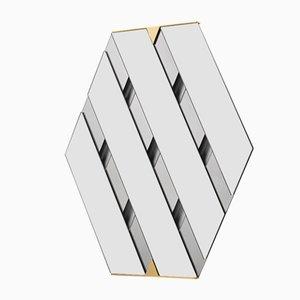 Spiegel aus geschichtetem Rauchglas von Martina Bartoli für Mason Editions
