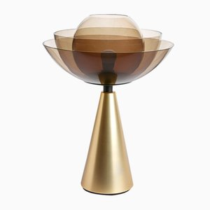 Lampada da tavolo Lotus in ottone di Serena Confalonieri per Mason Editions