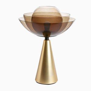 Lampe de Bureau Lotus en Laiton par Serena Confalonieri pour Mason Editions