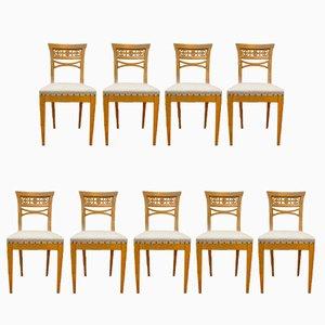 Deutsche Sezession Stühle, 1920er, 9er Set