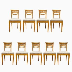 German Secession Chairs, 1920s, Set of 9