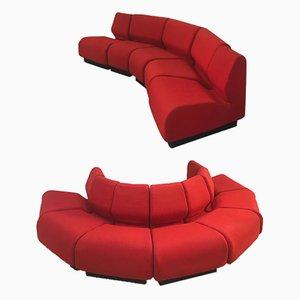 Divano modulare vintage rosso di Don Chadwick per Herman Miller