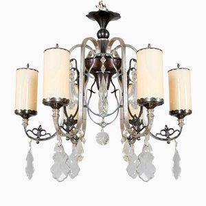 Art Deco Opalglas Kronleuchter