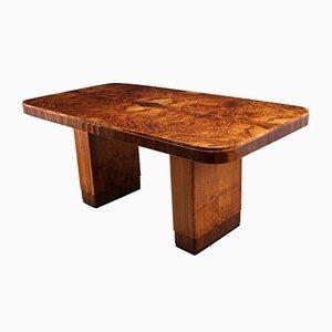 Tavolo Art Déco in legno di noce, anni '30