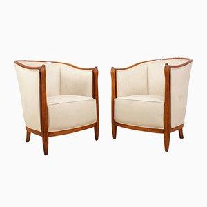 Art Deco Sessel von Paul Folllot, 1920er, 2er Set