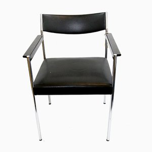 Austrian Aluminium and Leather Armchairs from Brüder Fellner, 1970s, Set of 4