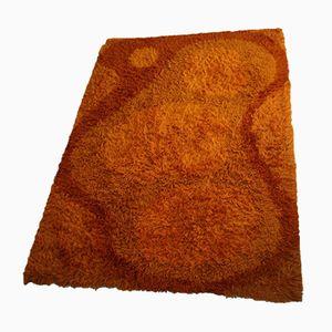 Vintage Teppich in Orangetönen von Gilde Design, 1960er