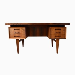 Danish Rosewood Floating Desk, 1960s