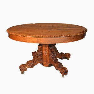 Charles X Oval Walnut Extendable Table, 1820s