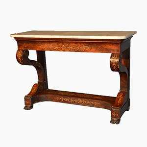 Charles X Feather Mahogany Console, 1820s