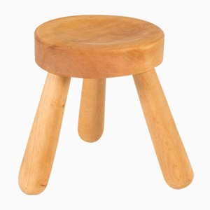 Swedish Wooden Stool by Ingvar Hildingsson, 1940s