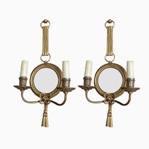 Gilt Bronze Wall Sconces by Henry Petitot for Atelier Petitot, 1950s, Set of 2