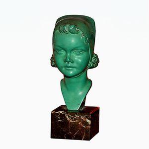 Busto piccolo Art Déco di Max Le Verrier