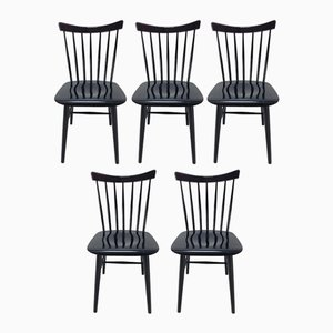 Mid-Century Dining Chairs, 1960s, Set of 5