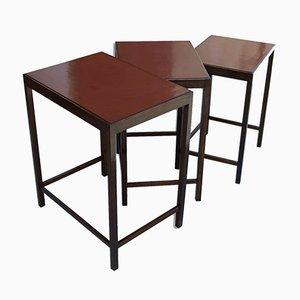 Tavolini ad incastro modernisti di Jindřich Halabala, anni '50