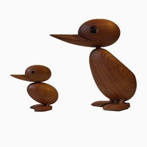 Set mit Ente & Küken aus Teak von Hans Bølling für Architectmade