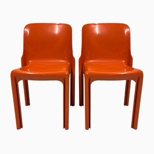 Selene Chairs by Vico Magistretti for Artemide, 1969, Set of 2