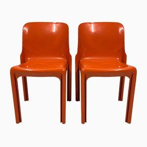 Selene Chairs von Vico Magistretti für Artemide, 1969, 2er Set