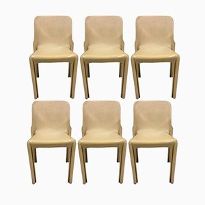 Selene Chairs by Vico Magistretti for Artemide, 1960s, Set of 6